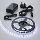 Biard 5 Metre 5050 White LED Bathroom Strip Light Kit Waterproof with Power Supply - 300 LEDs