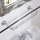 Milano Ambience Glass Gallery Bathroom Shelf with Chrome Finish