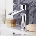 Milano Razor - Modern Deck Mounted Waterfall Mono Basin Mixer Tap - Chrome
