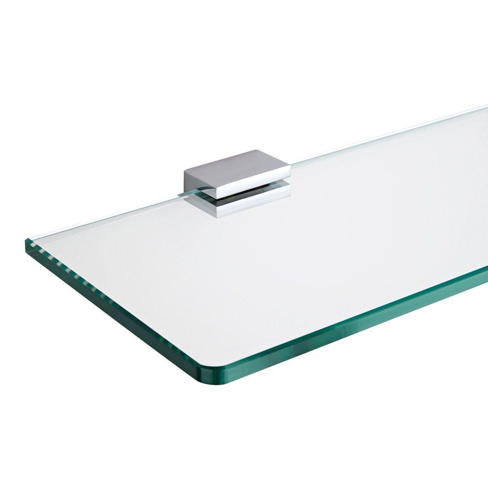 Milano Parade Chrome Glass Bathroom Shelf