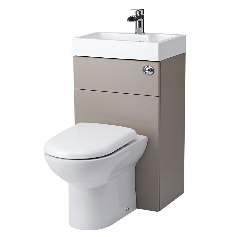 Stone Grey Modern Linton Toilet And Basin Unit