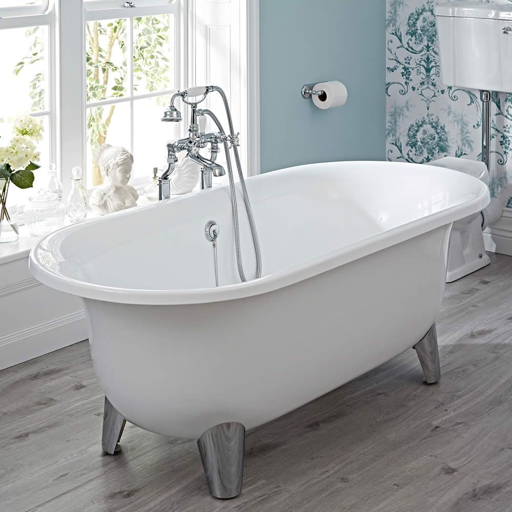 Milano Mellor Contemporary Oval Shaped Free Standing Bath with ...