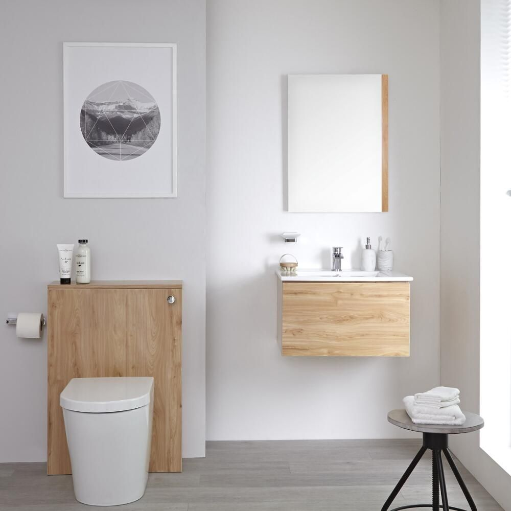 Milano Oxley - 600mm Modern WC Unit with Back to Wall Toilet and ...