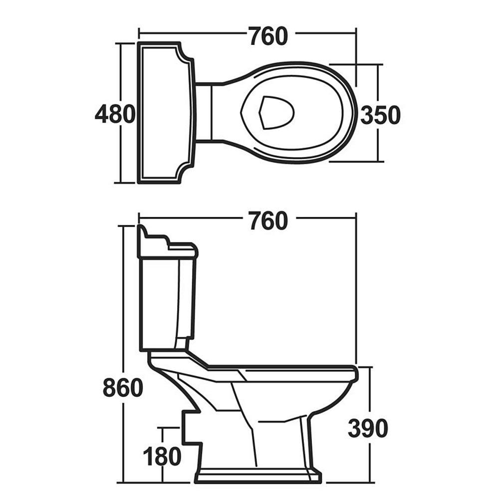 Cove Complete Bathroom Suite: Premier Legend 4 Piece Bathroom Set