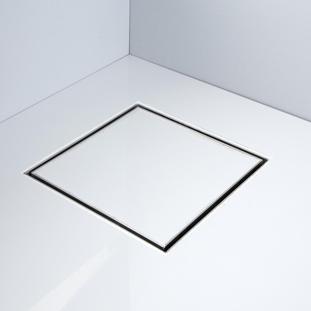 Milano 200mm Square Tile Insert Stainless Steel Shower Drain