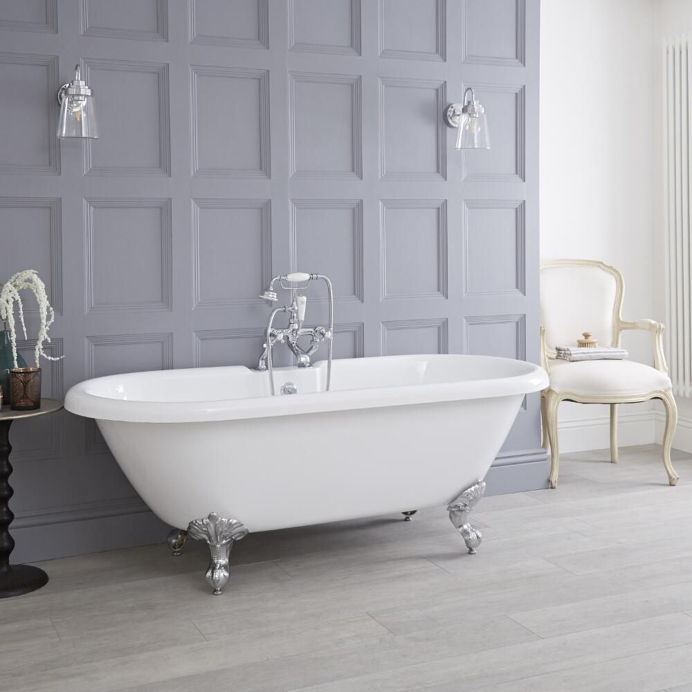 1800 X 785mm Roll Top Freestanding Bath With