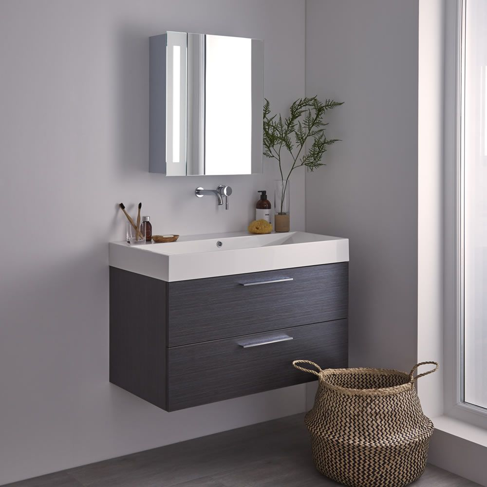 Milano Leitha LED Bathroom Mirrored Cabinet