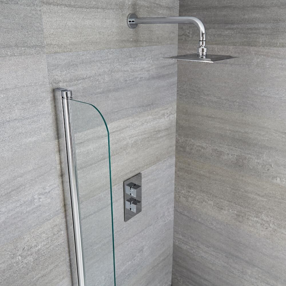 Milano Portland Splash Shower Guard Bath Screen