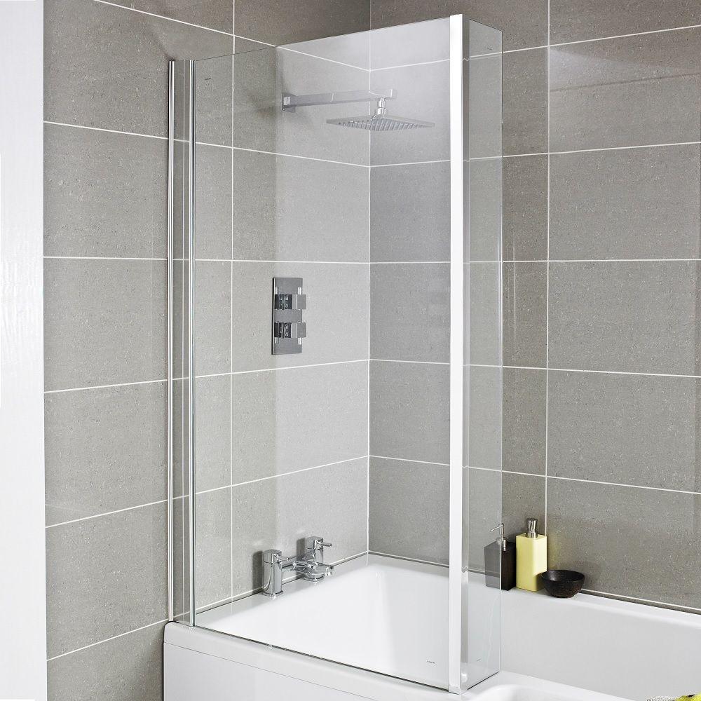Premier Square Shower Bath Screen Fixed
