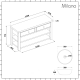 Milano Henley - Antique White 1240mm Traditional Vanity Unit with Round Countertop Basins