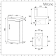 Milano Farington - Close Coupled Toilet and 400mm Floor Standing Vanity Unit Set - Choice of Finish