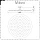 Milano Mirage - 400mm Round Ultra Thin Shower Head