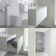 Milano Oxley - White 800mm Vanity Unit with Basin, WC Unit, Back to Wall Toilet, Storage Unit and Mirror