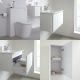 Milano Oxley - White 600mm Vanity Unit with Basin, WC Unit, Back to Wall Toilet, Storage Unit and Mirror