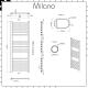 Milano Eco Electric - Flat Chrome Heated Towel Rail 1200mm x 400mm