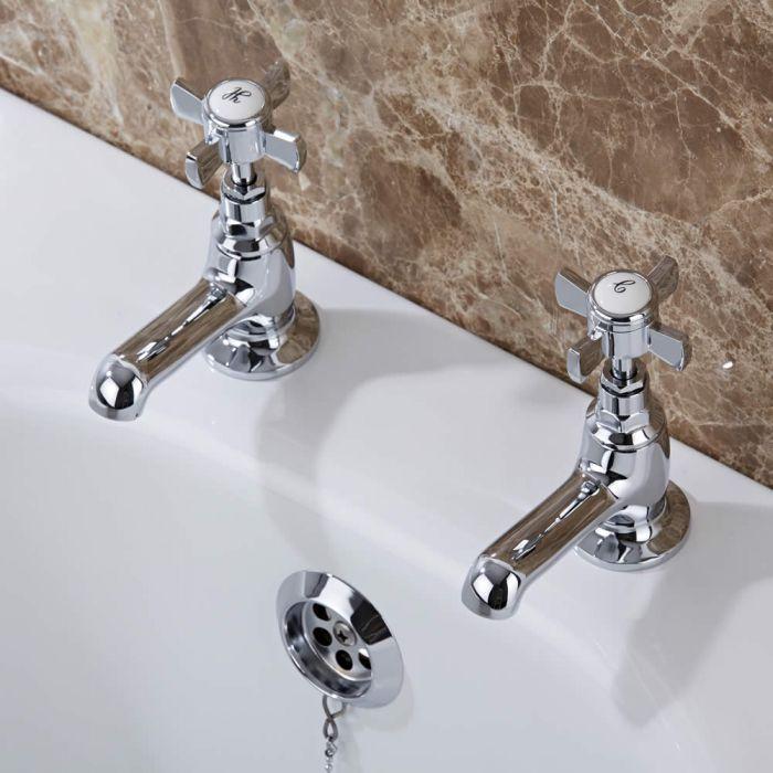 Milano Victoria Pillar Bath Taps