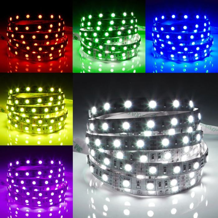 Biard LED IP20 5m 5050 Strip Light - RGB