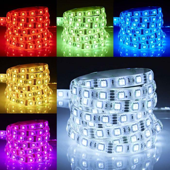 Biard LED IP65 5m 5050 Strip Light - RGB