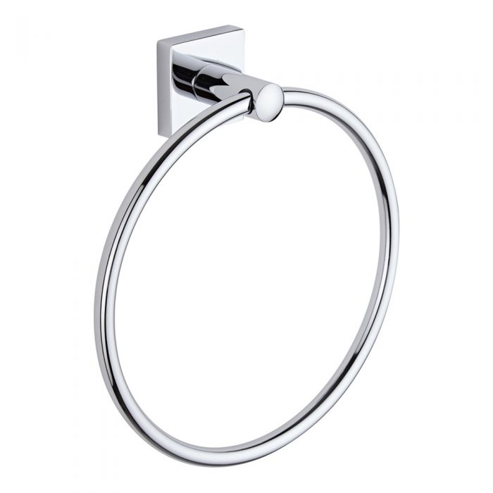Milano Liso Chrome Towel Ring