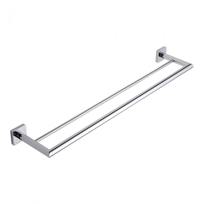 Milano Liso Chrome Double Towel Bar Rail
