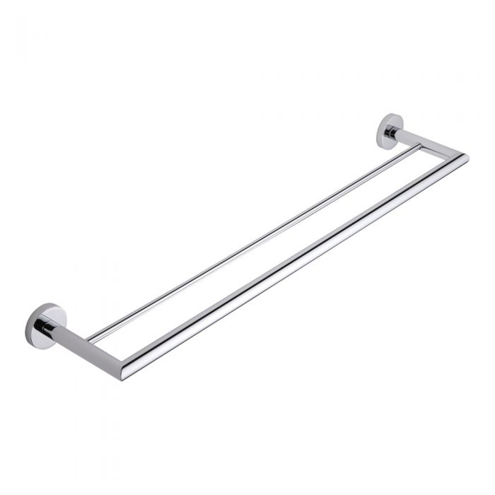 Milano Prise Chrome Double Towel Bar Rail