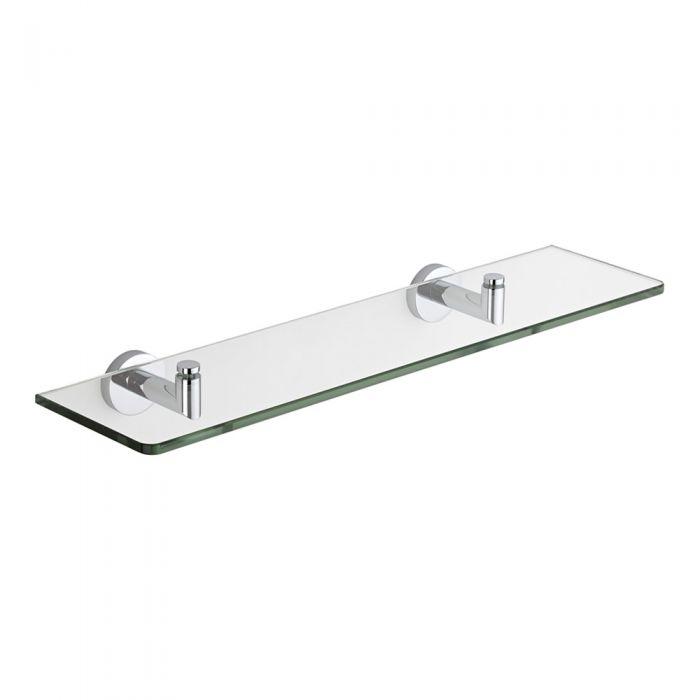 Milano Prise Chrome Glass Shelf