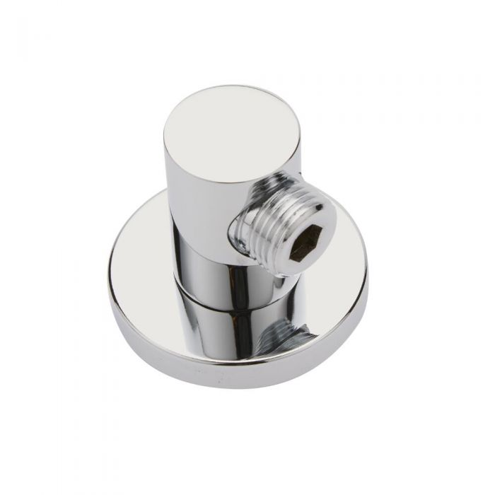 Milano Round Chrome Brass Shower Outlet Elbow