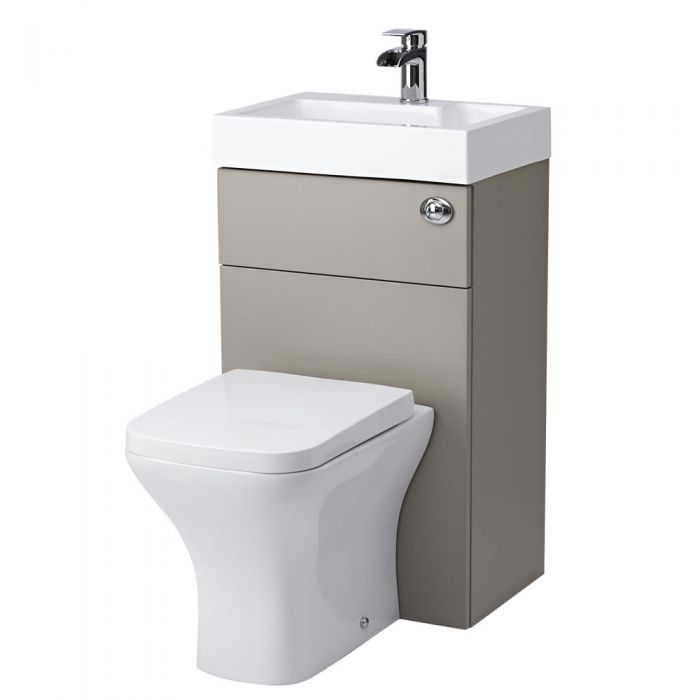 Milano Combination Toilet & Basin Unit Stone Grey