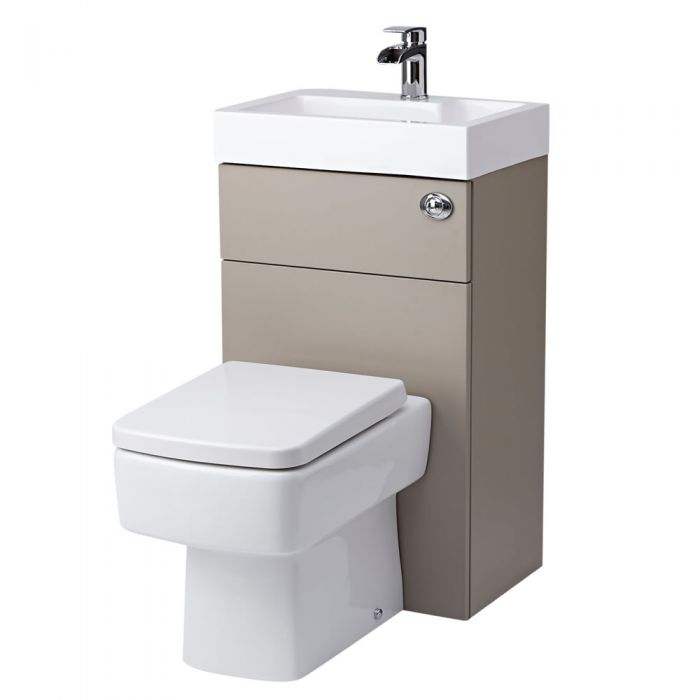 Milano Series 300 Combination Toilet & Basin Unit Stone Grey