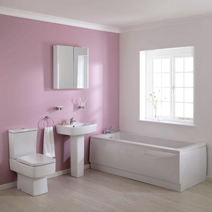 Premier Bliss 1700mm Straight Square Bathroom Suite