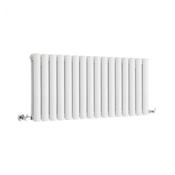 Milano Aruba - White Horizontal Designer Radiator 400mm x 1000mm (Double Panel)