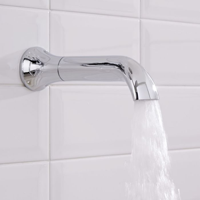 Hudson Reed Elizabeth - Traditional Wall Mounted Bath Spout - Chrome