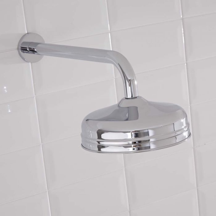 Milano Chrome Wall Mounted Shower Arm - 320mm