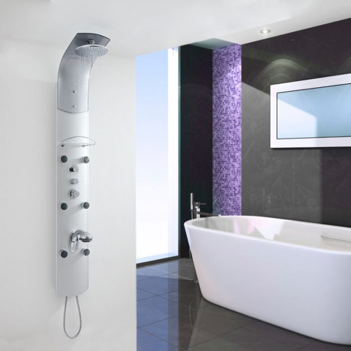 Milano Thermostatic Shower Panel Column Tower with 6 Body Jets