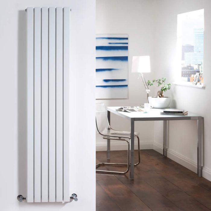 Milano Capri - White Flat Panel Vertical Designer Radiator - 1600mm x 354mm (Double Panel)