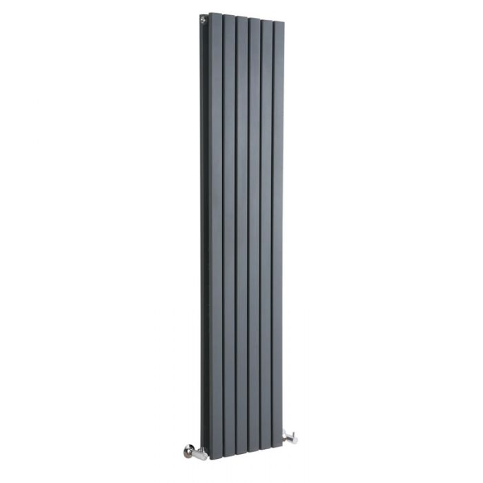 Milano Capri - Anthracite Vertical Designer Radiator - 1600mm x 354mm (Double Panel)