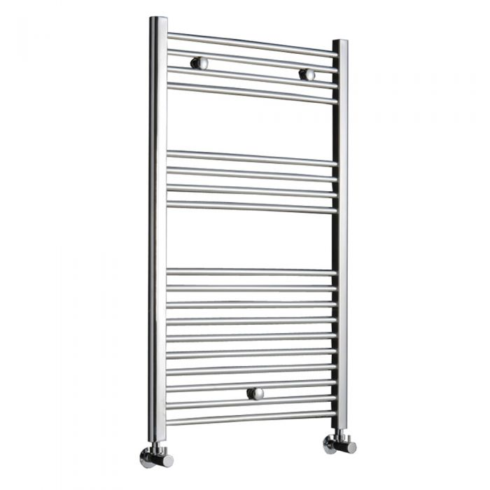 Kudox - Premium Chrome Flat Heated Bathroom Towel Radiator Rail 1000mm x 600mm