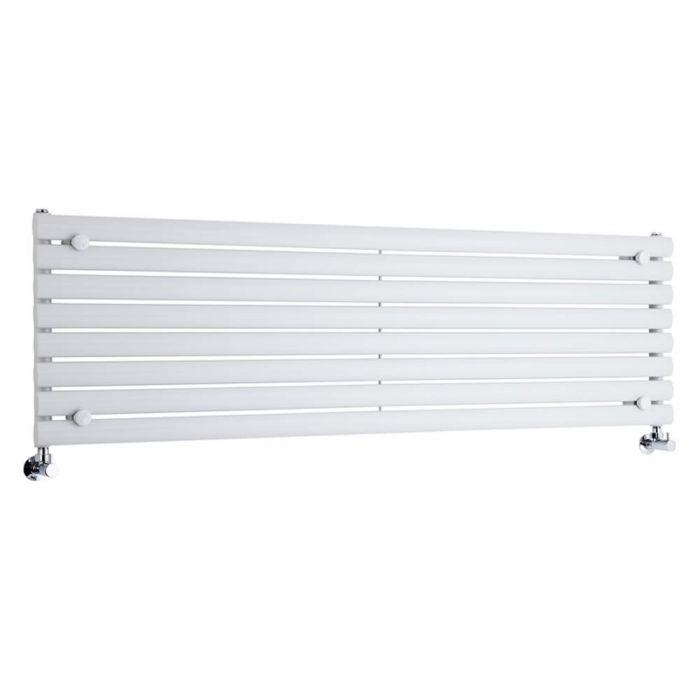 Milano Aruba - Luxury White Horizontal Designer Radiator 472mm x 1600mm