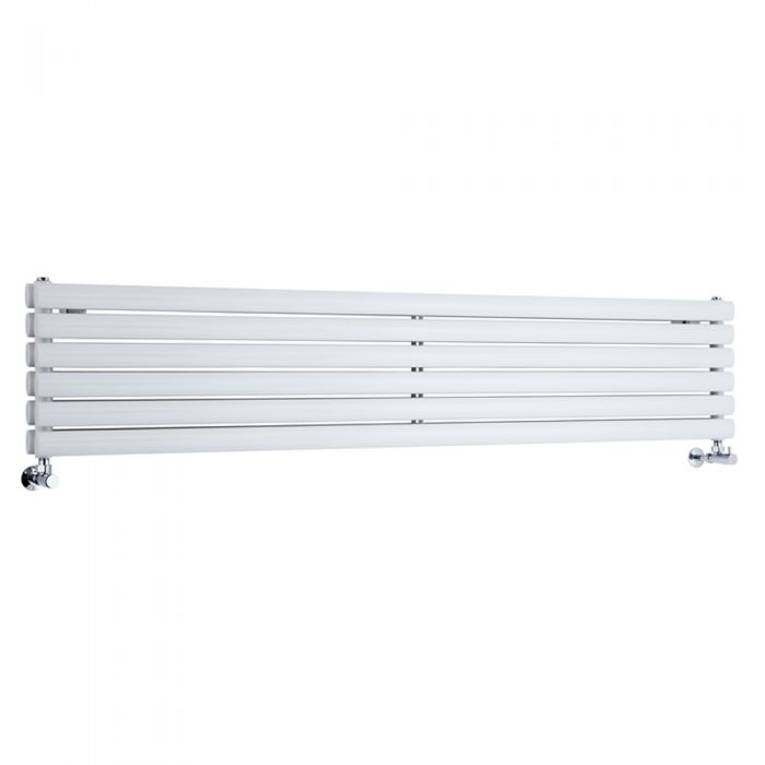 Milano Aruba - Luxury White Horizontal Designer Double Radiator 354mm x 1780mm