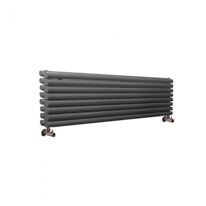 Milano Aruba - Anthracite Horizontal Designer Radiator - 472mm x 1780mm (Double Panel)