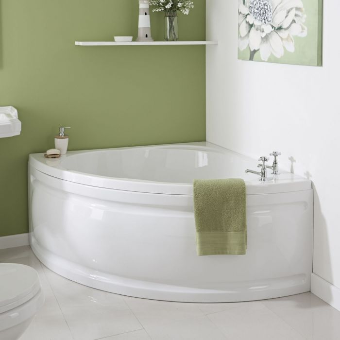 Milano 1200mm Corner Bath and Panel