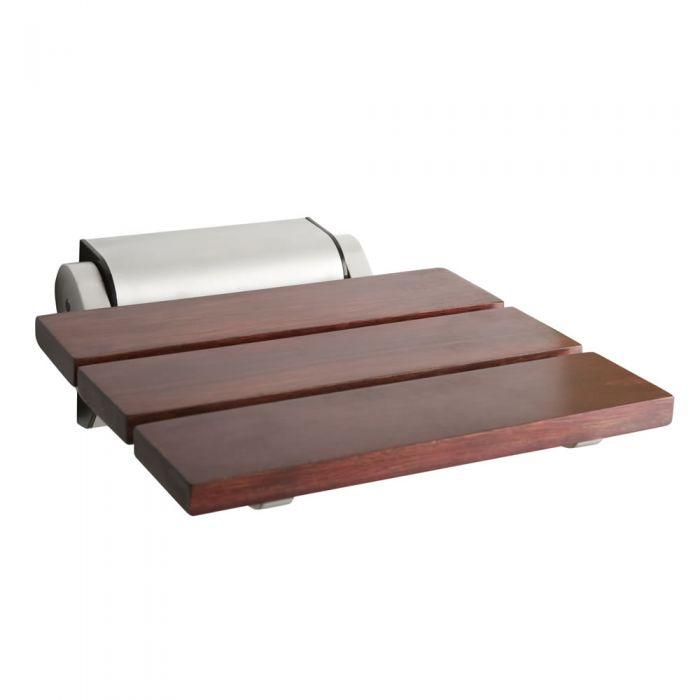Milano Sapele Folding Wooden Shower Seat
