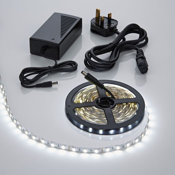 Biard LED IP20 5m 5050 Plug & Play Strip Light Kit - Cool White