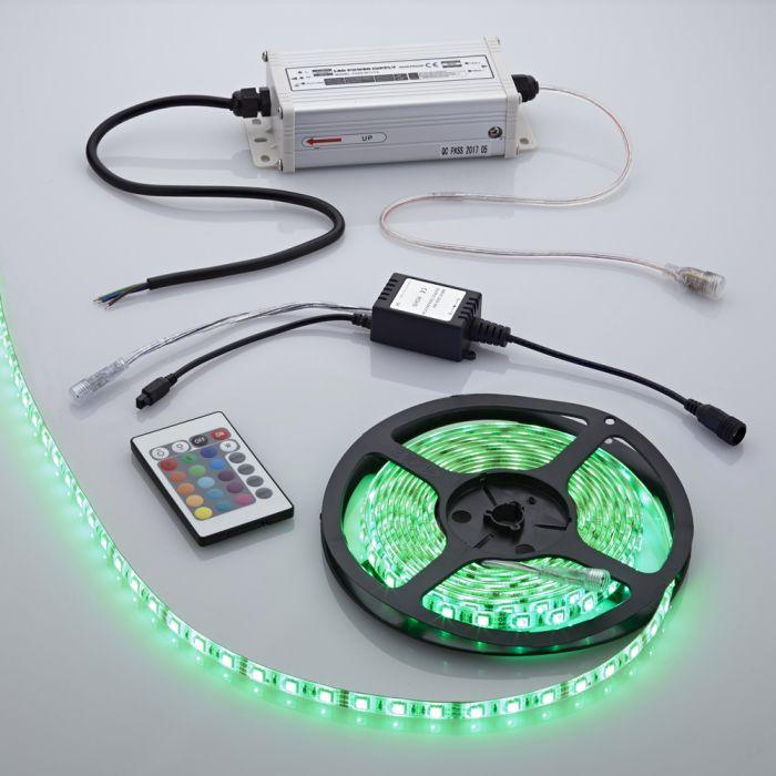 Biard LED IP65 5m 5050 Plug & Play Strip Light Kit - RGB