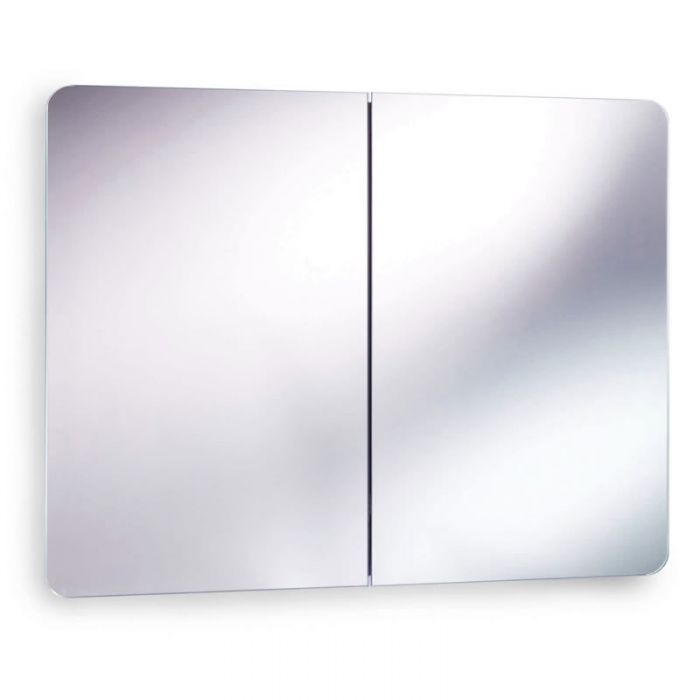 Ultra Mimic Stainless Steel double Mirrored Cabinet with Hinged Doors