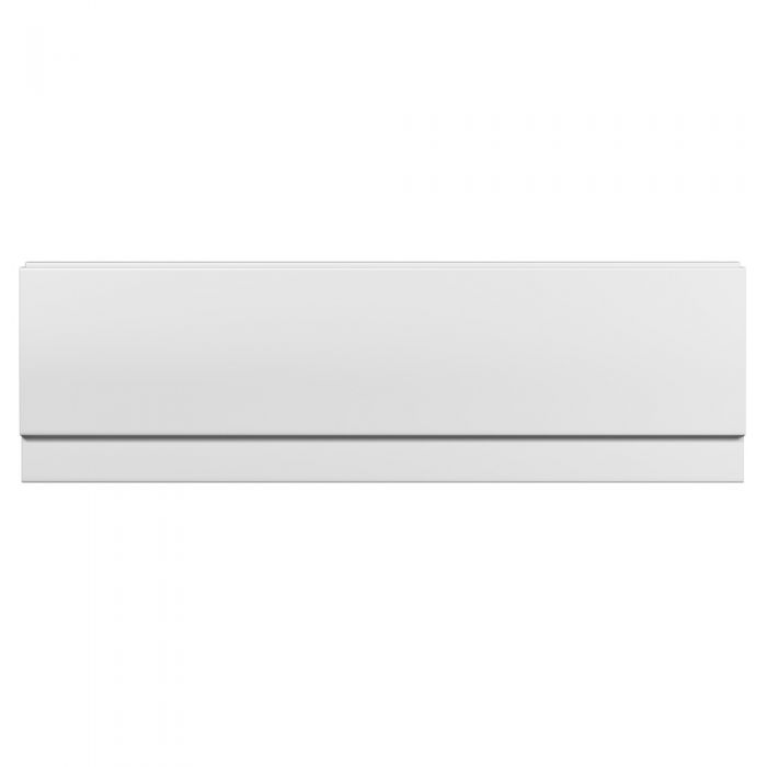 Milano - White Modern Acrylic Bath Front Panel - 510mm x 1500mm