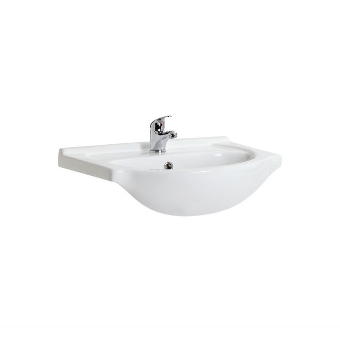 Milano - White Classic Vanity Only Basin - 550mm x 430mm (1 Tap-Hole)