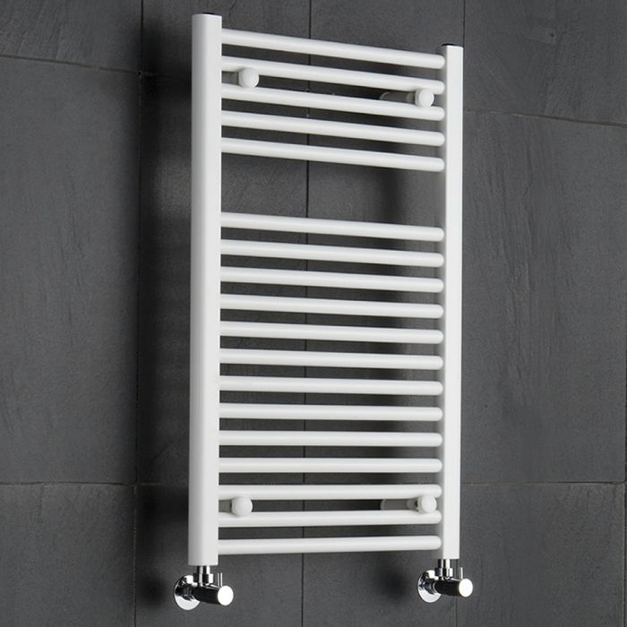 Sterling - White Flat Heated Towel Rail - 800mm x 500mm