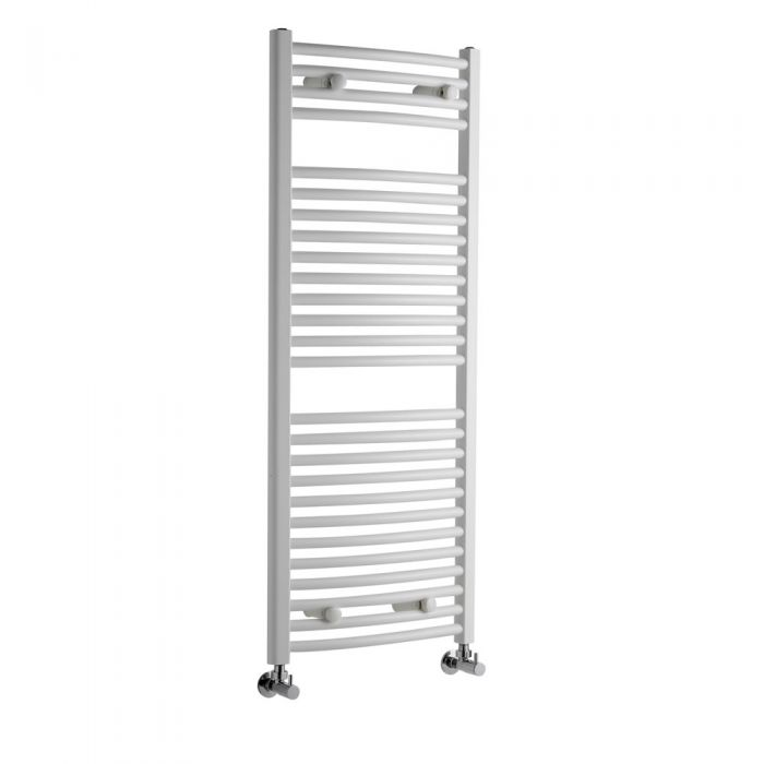 Sterling Premium White Curved Heated Towel Rail 1200mm x 500mm
