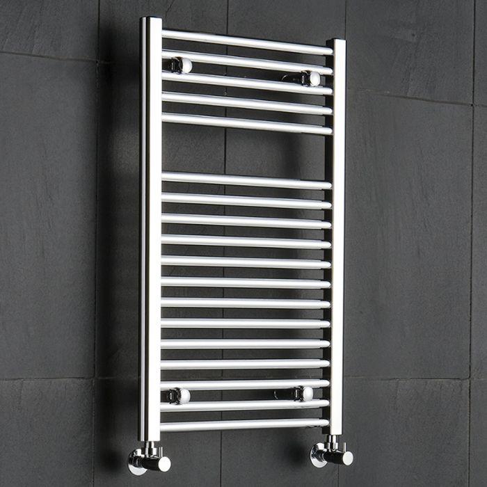 Sterling - Chrome Flat Heated Towel Rail - Radiator 800mm x 500mm